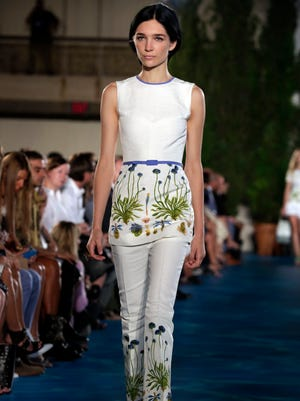 The Tory Burch Spring 2014 collection is modeled during Fashion Week in New York on Sept. 10, 2013.