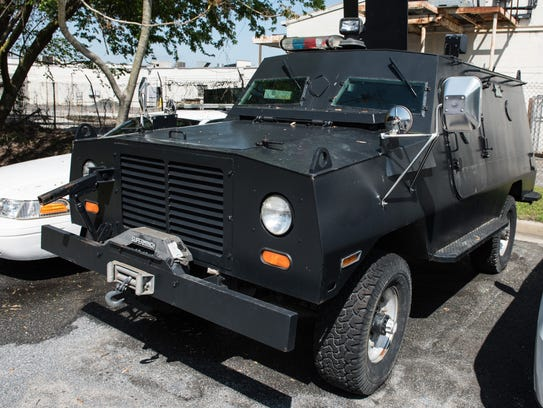 An exterior view of Cadillac Gage Ranger Peacekeeper
