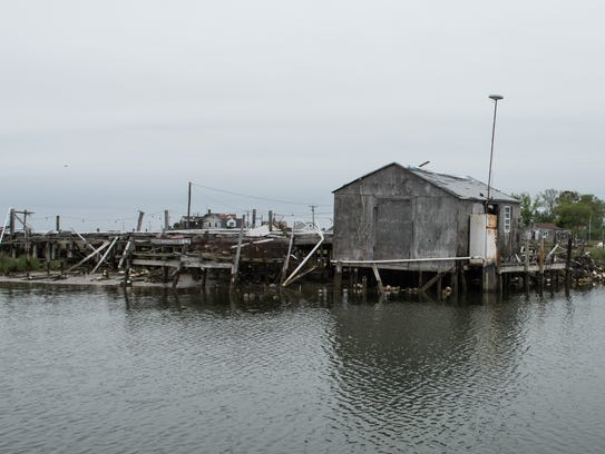 A view of a crab shack near Rhodes Point on Smith Island