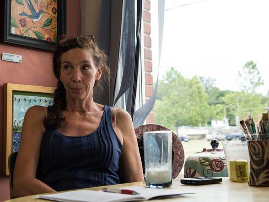 Dana Simson, owner of Chesapeake East at her studio