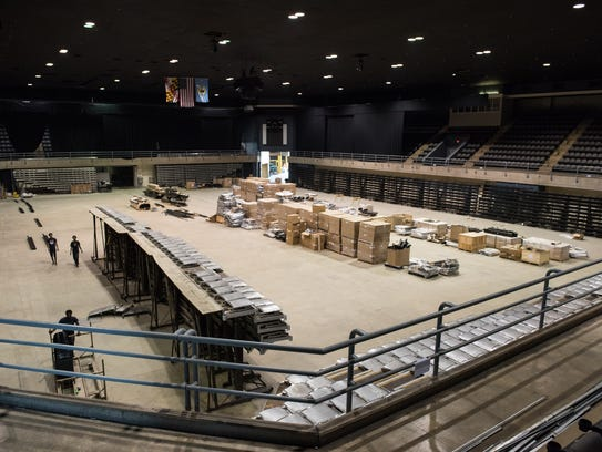 An interior view of the Normandy Arena at the Wicomico