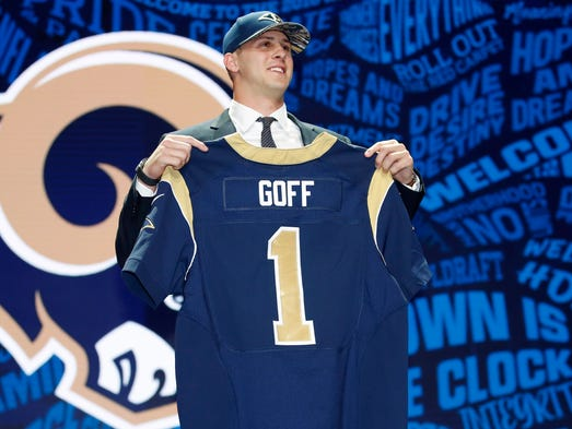 2016: Jared Goff, QB, Cal - Los Angeles Rams