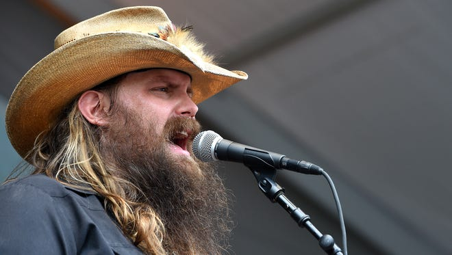 Chris Stapleton performs at the Pilgrimage Music and Cultural Festival in Franklin on  Sept. 27, 2015.