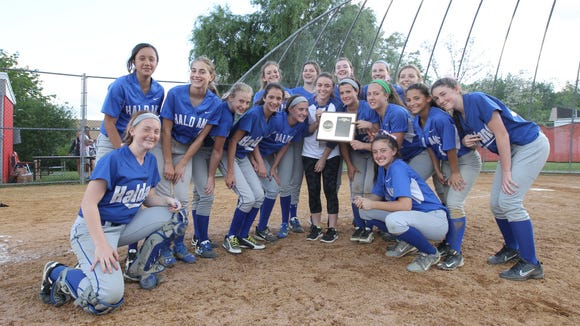 Haldane defeats Pawling 3 - 2 in the Class C softball section final at North Rockland High School in Thiells on Friday, May 26, 2017.