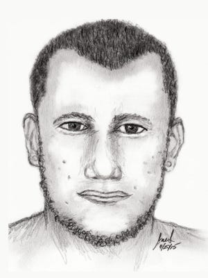 Police search for man under suspicion of sexual assault.