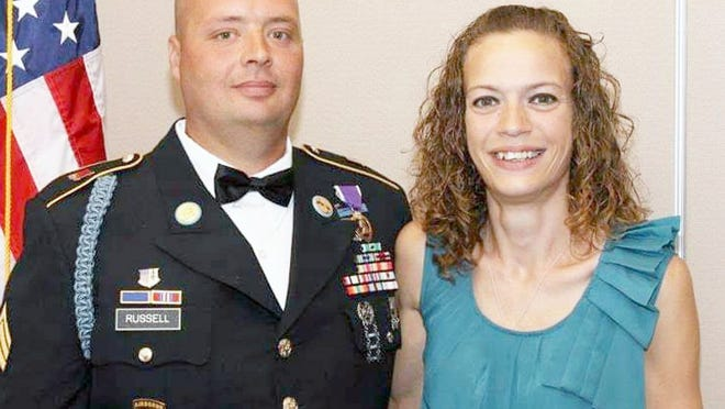 Sgt. Carl Russell and his wife, Lea.