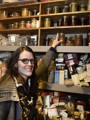 Ashley English in her home pantry.