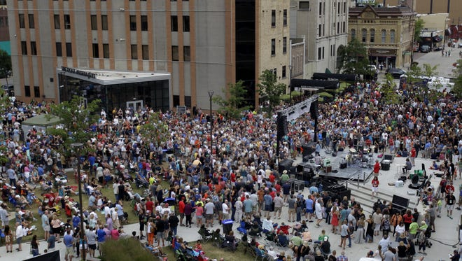 Big crowds can be expected to fill Houdini Plaza in downtown Appleton for the next 13 Thursdays.