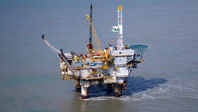 One person was killed and two injured in an accident on an oil platform Saturday.