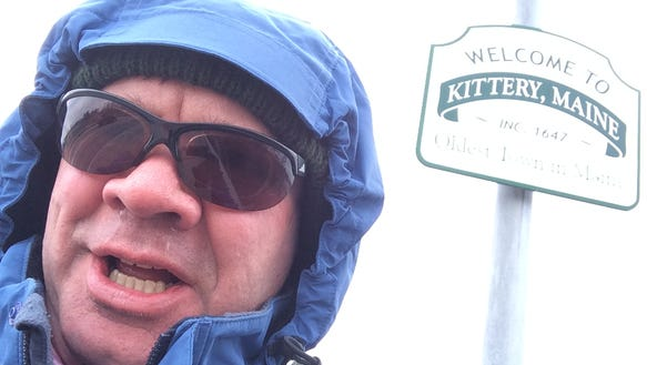 Running and freezing in Kittery, Maine, and Portsmouth,