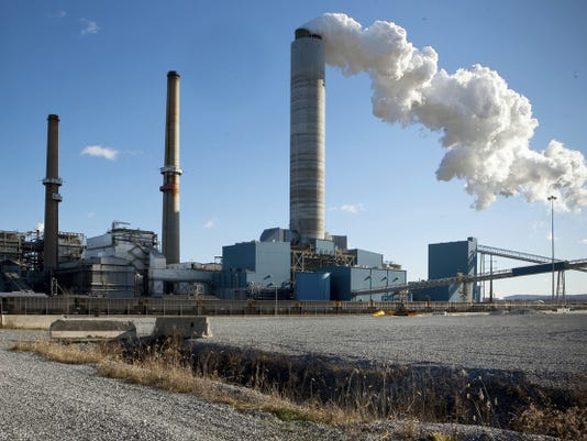 """Brunner Island Power Plant in East Manchester Township. The coal-burning power plant is in the process of converting to """"cofire,"""" which also allows it to burn natural gas. The change could help the plant to curb emissions as required by the federal Clean Power Plan. The Pennsylvania Department of Environmental Protection has a September, 2016 deadline to file its proposal to comply with the federal plan."""