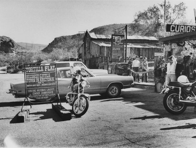 Tortilla Flat was a popular stop for motorists in 1978,
