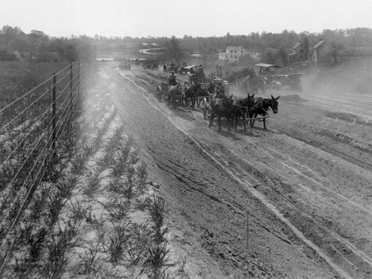 The dirt road before DuPont Highway was built.
