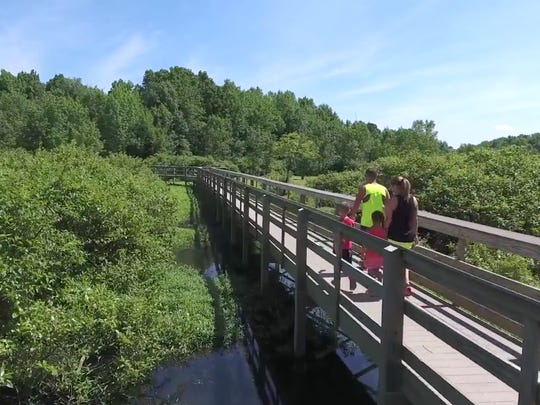 The new boardwalk at Audubon State Park as shown in a video from the Henderson County Tourist Commission.