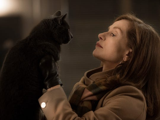 "Isabelle Huppert in a scene from ""Elle,"" now playing in select cinemas."