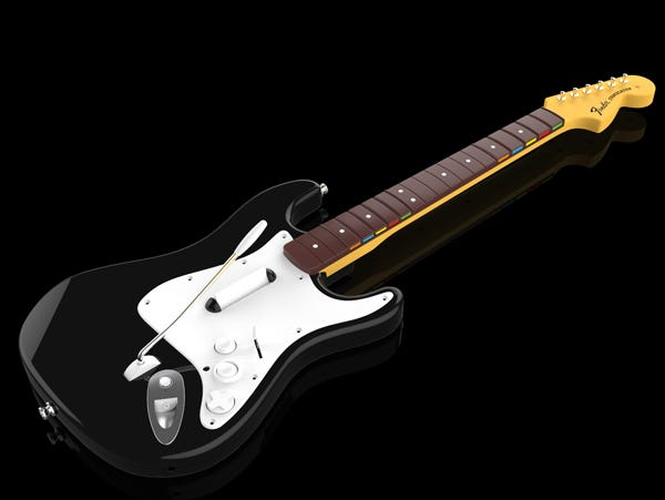 A guitar controller for the upcoming 'Rock Band 4' video game.
