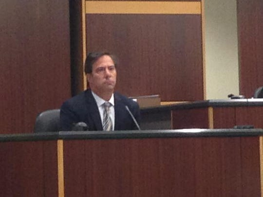 Brett Spiegel, the suspect's son testifies in the killing of his mother and her fiance on Fort Myers Beach.