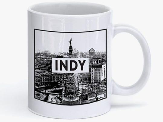Monument Circle coffee mug, $16.