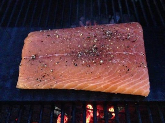 Cedar plank salmon.