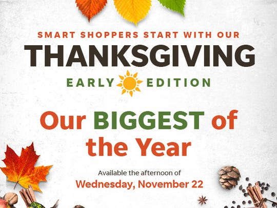 The Hattiesburg American's Thanksgiving edition will be available sometime in the late afternoon on Nov. 22.