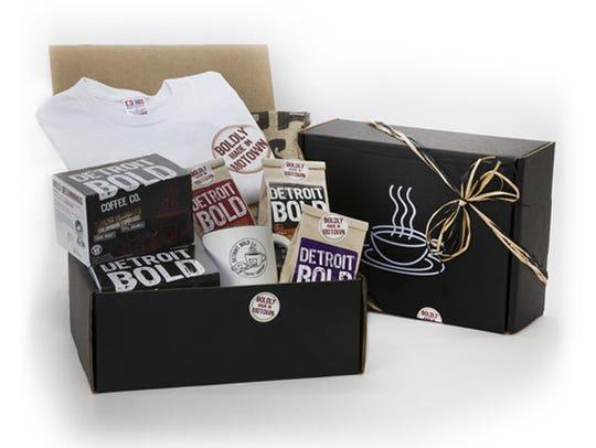 Detroit Bold coffee holiday gift box
