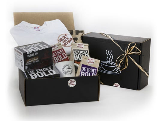Detroit Bold coffee holiday gift box