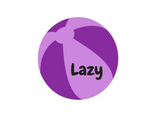 Purple beach ball