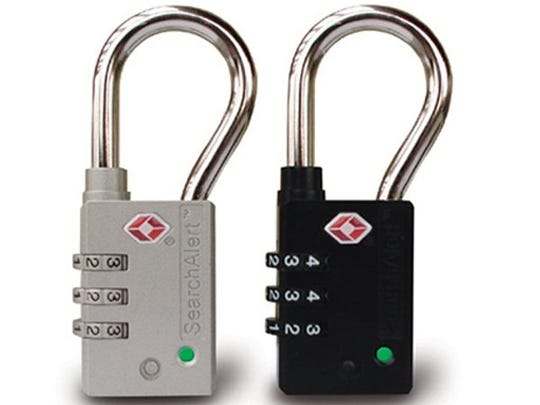 Search Alert locks are colorful combination locks that
