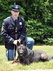 Vineland Police Officer William Bontcue and his K9