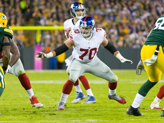 Weston Richburg of the Giants is a top-rated center,
