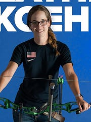 Heather Koehl, 25, of Sheboygan Falls is making her third bid for the Team USA women's Olympic archery team.