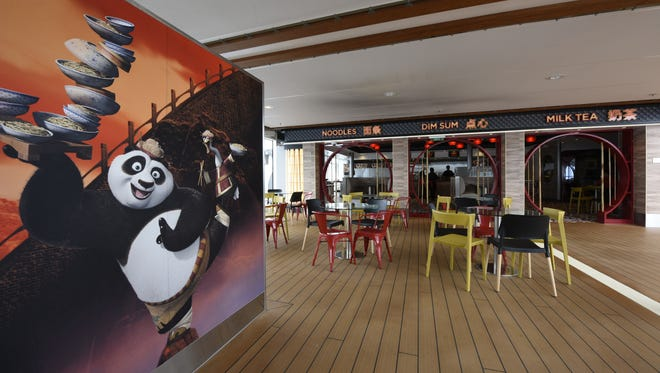 The Kung Fu Panda eatery on Royal Caribbean's Quantum of the Seas.