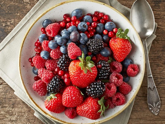 Berries are great for breakfast or snacks.