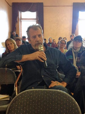 Bill Simon, co-coordinator of the Animas River Stakeholder's Group, expressed gratitude to local officials at a meeting in Silverton held to discuss the Gold King Mine spill and a possible Superfund designation for the mining area in the mountains north of the town.