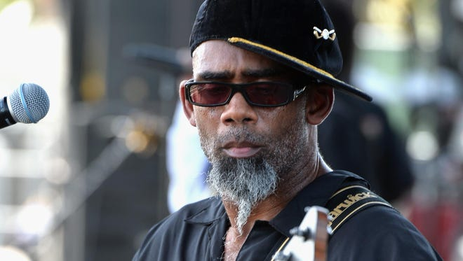 Norwood Fisher of Fishbone performs at the  2014 Coachella Valley Music & Arts Festival in California.