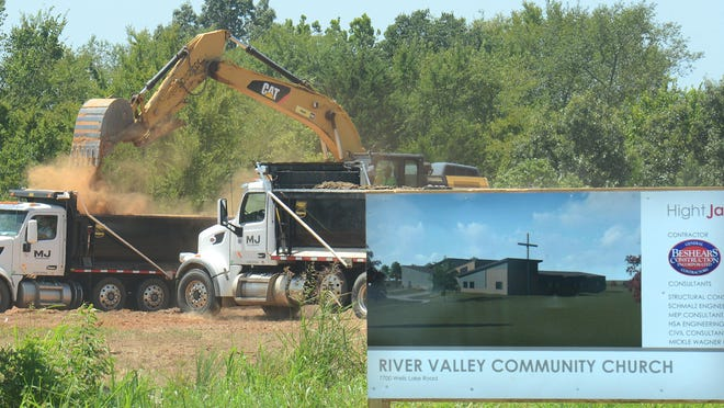 Dirt work is underway at the future home of River Valley Community Church on Monday, August 10, 2020. The church's new location is located at 7700 Wells Lake Road in Fort Smith.