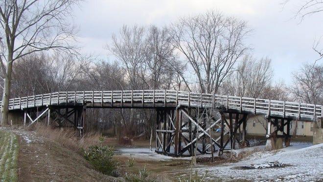 The 13th Street bridge in St. Francisville, Illinois.