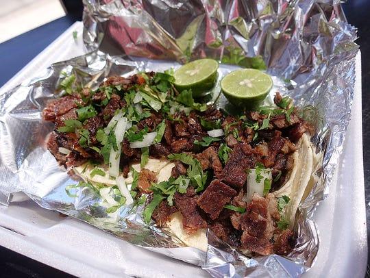 Carne asada tacos at Carniceria Castillo in Phoenix.