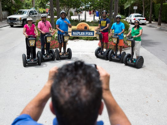 Dominick Dimolfetta, a tour guide with Segway Tours