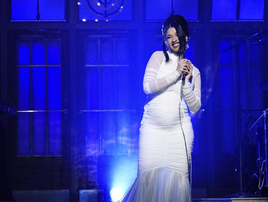 """Cardi B, who performed """"Be Careful"""" as the musical"""