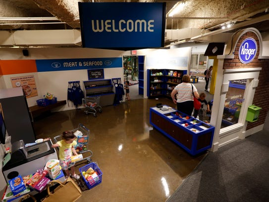 The new miniature Kroger store at the newly remodeled