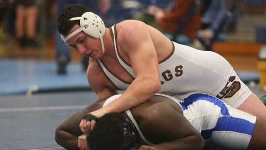 Clarkstown South's Jake Spreckman on his way to defeating