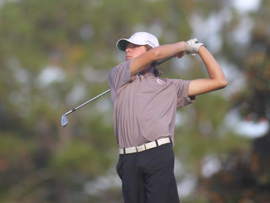 Chiles' Hayden Smith plays during Monday's City Championship
