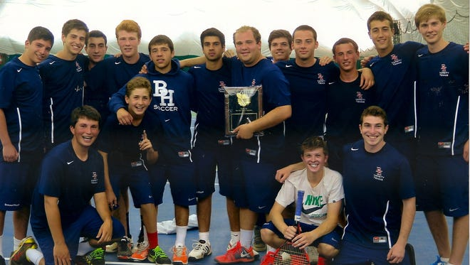 Byram Hills won the Section 1 team tennis title on May 10.
