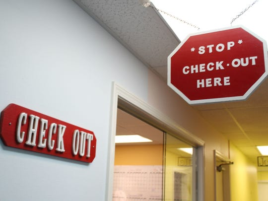 The check out counter for parents and their children at Minden Pediatrics.