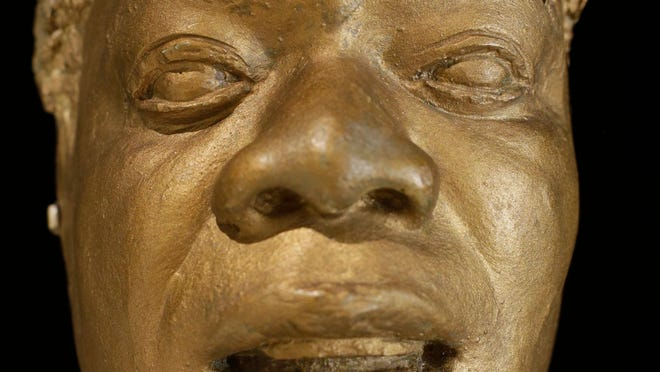 Louis Armstrong's life mask appears on display at the Louis Armstrong House Museum in the Queens borough of New York. To mark the 10th anniversary of the Louis Armstrong museum in the modest brick house where he lived for 28 years, curators are unveiling one of the jazz trumpeter's most unusual artifacts, the plaster mask that had been stored in a cupboard for decades.