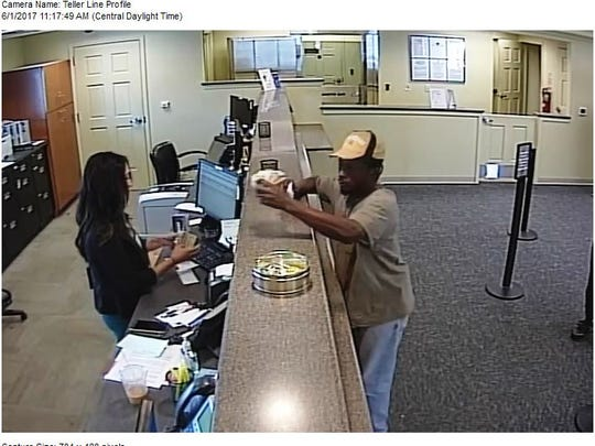Police said this man walked up to a Fifth Third Bank