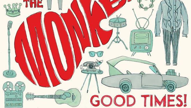 """The cover to the 2016 album """"Good Times!"""" by The Monkees."""