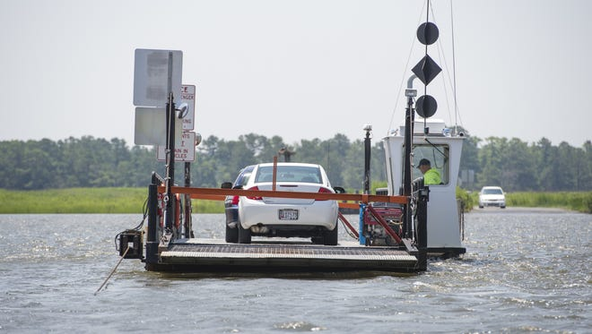 The Whitehaven Ferry carries vehicles from one side of the river to the other in a trip that takes four or five minutes each way.