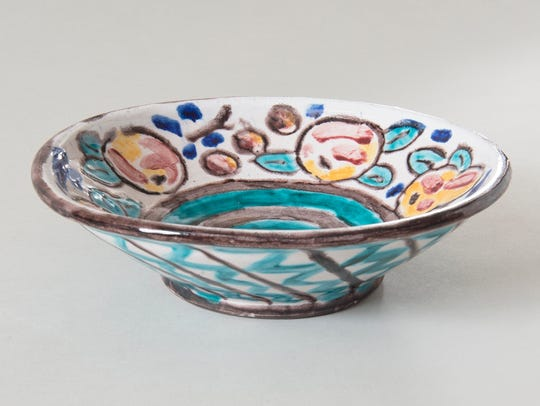 The Barnes  has the largest group of earthenware vessels by the younger Renoir, who enjoyed a brief stint as a ceramic artist from 1919 to 1922 before venturing into filmmaking. 'Bowl' is a 1919–1922 earthenware object with polychrome decoration over tin-glaze by the artist (1894–1979).